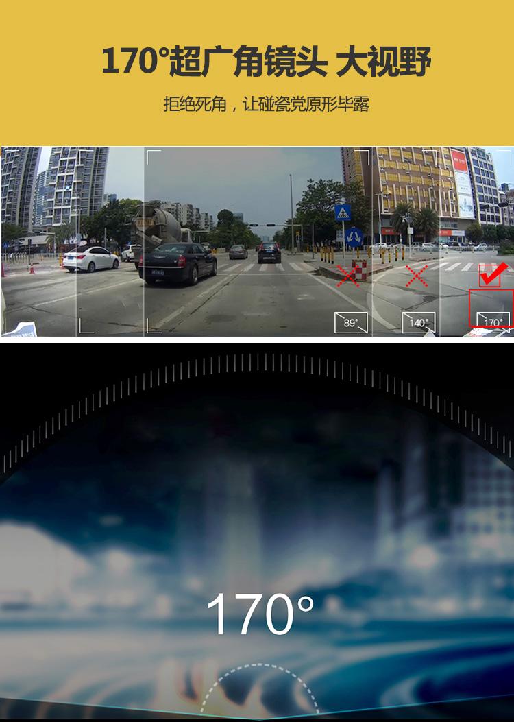 福特蒙迪欧行车记录仪超广角镜头大视野