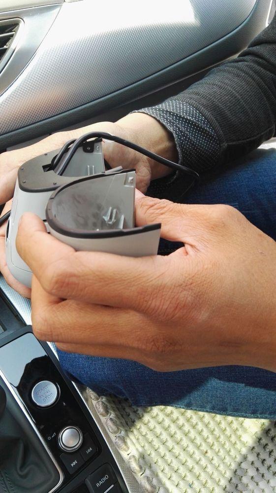 奥迪隐藏式行车记录仪 a6l专用安装案例